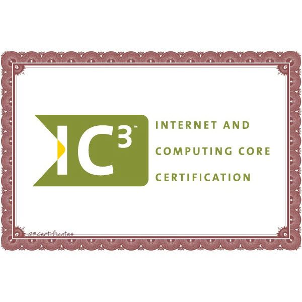 Internet And Computing Core Certification Ic3