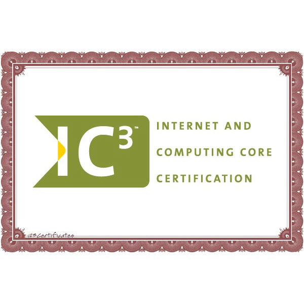 Internet And Computing Core Certification (IC3)